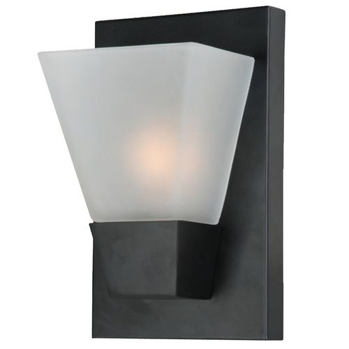 Decent looking, matite black, cheap wall sconce. I have these in my hallway in brushed nickel. Perfect!