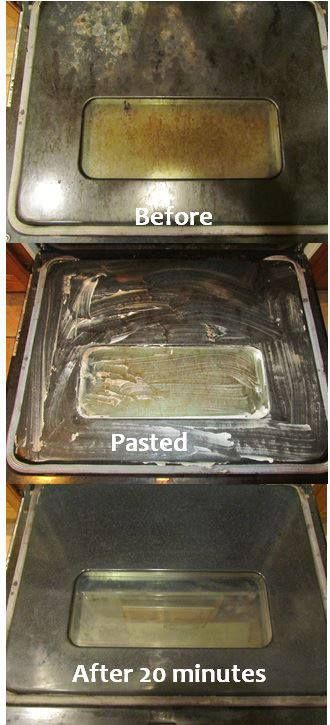 How to Clean Oven Glass Baking Soda to the RESCUE!!  Add enough water to about 1/4 cup of baking soda, form a thick paste, spread the paste across the (dirty) glass with a sponge. Let sit for about 20 minutes. Then, wipe away the paste with a damp sponge & finish by buffing with a paper towel. The glass will be good as new! Join my FREE group. We offer healthy recipes, exercises, tips, fun facts, support, motivation & so much more!!   https://www.facebook.com/groups/hearthealthyandhappy/
