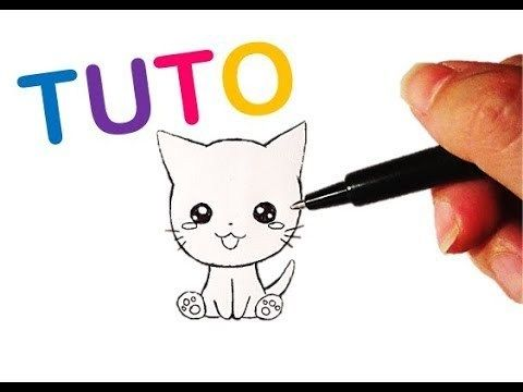 Tutoriel N 20 Comment Dessiner Un Chat Kawaii Facilement