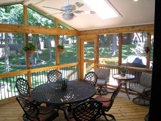 Cheap screened in porch ideas modern home design with for Deck decorating ideas on a budget