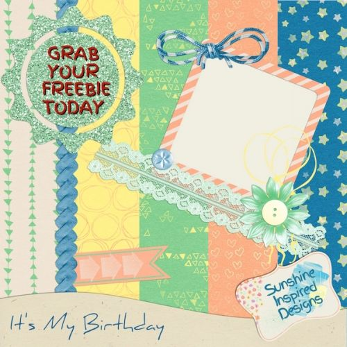 Giveaway, Freebie and {It's My Birthday} Collection Release
