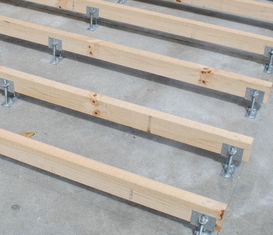 Buy Klevaklip Adjustable Joist Support Brackets Online Demak Timber Deck Over Concrete Timber Deck Concrete Patio