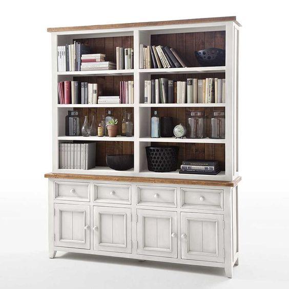 Stor og flott Byron bokhylle med en rustikk grå finish NovaSolo - raumteiler für wohnzimmer