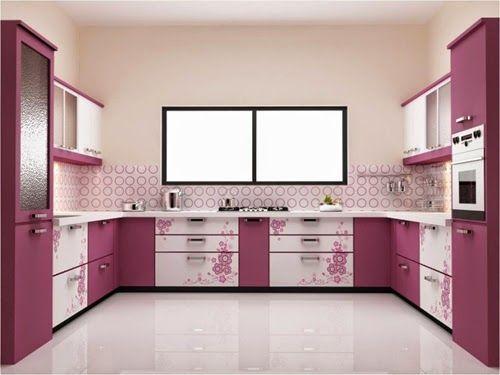 Desain Dapur Mewah Modern Dengan Warna Ungu Rumah Minimalis Kabinet Pinterest Kitchen Colors And Decor
