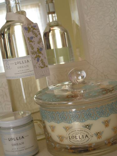 Love the Lollia Wish packaging! Think the wide container is a candle? It's all so pretty!
