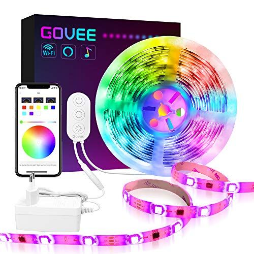 Govee Dreamcolor Led Strip Lichtband 5m Led Streifen Wifi Drahtlos Handy Streuerbare 5050 Led Band Sync Mit Musik Kompatibe Led Streifen Led Band Led Stripes