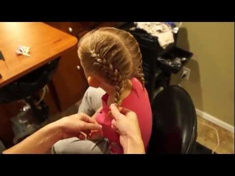 Double French Braid with Bangs