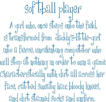 softball inspirational quotes | ... > Shop by Collection > Kids & Teens > Softball Player | Wall Decals