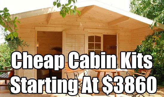 Cheap cabin kits starting at 3860 cabin cabin kit for Cheapest way to build your own house