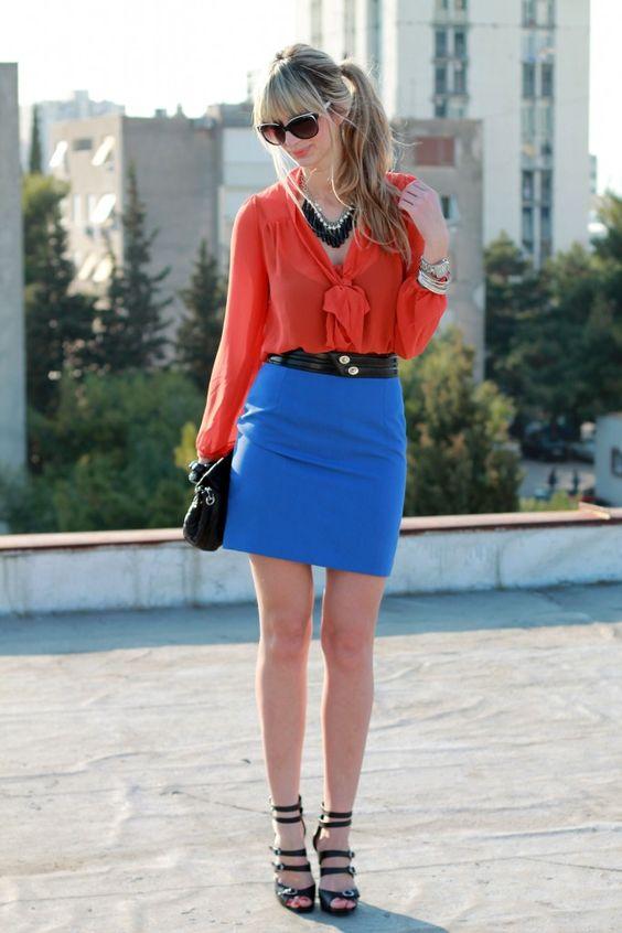 Top: H  Skirt: Banana Republic  Shoes: BCBG  Bag: Target  Sunnies: Carrera