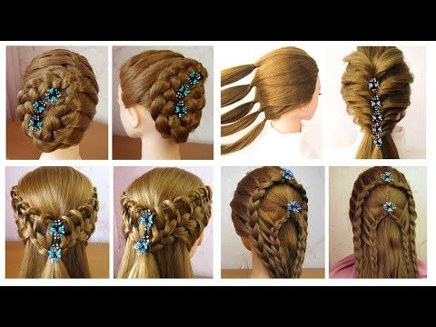 4 Coiffures Simples Pour Les Fetes Mariage Quick And Easy Hairstyles For Party Bridal Prom Youtube Frisuren