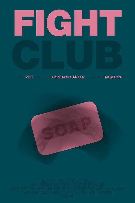 F. Club – Minimal Movie Poster – revised Art Print