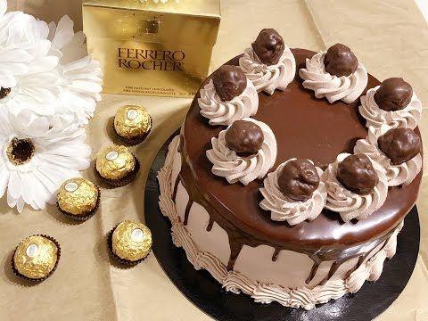 تحضير حشوة الفيروروشيه من أفخم وأرقى الحشوات للكيك طعم ولا أطيب Youtube Cake Desserts Birthday Cake
