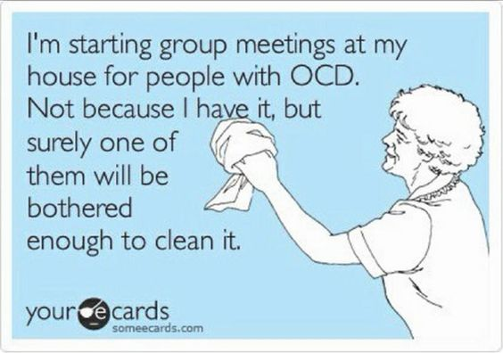 I'm starting group meetings at my house for people with OCD.  Not because I have it, but surely one of them will be bothered enough to clean it.  http://boise.thecleaningauthority.com/   #cleaning #housecleaning #maid #housekeeping #service #boise #authority
