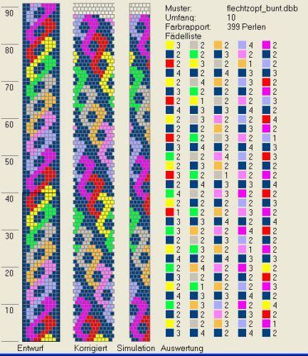 Схемы вязания крючком из бисера жгутов