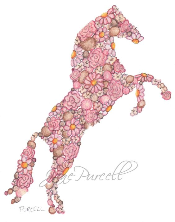 Custom Listing for BCB    Children's Art Print Equestrian Decor 8 x 10 Lovely Horse. $34.90, via Etsy.