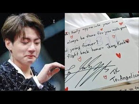 Bts Members Sent Handwritten Letters To This Fan Who Has Incurable Disease Here What She Do Youtube Bts Members Handwritten Letters Bts