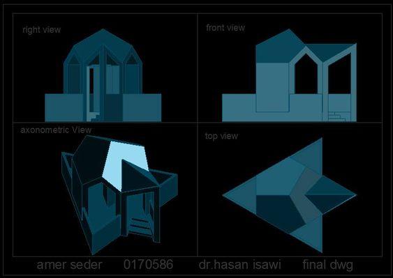 الرسم والاظهار المعماري (Arch. Drawing & Representation ) Amer Seder