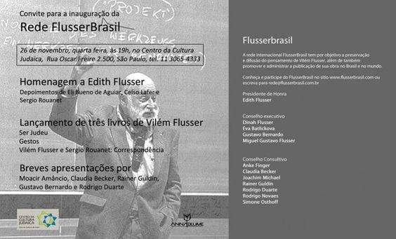 Lançamento da Rede FlusserBrasil em SP - ZUM