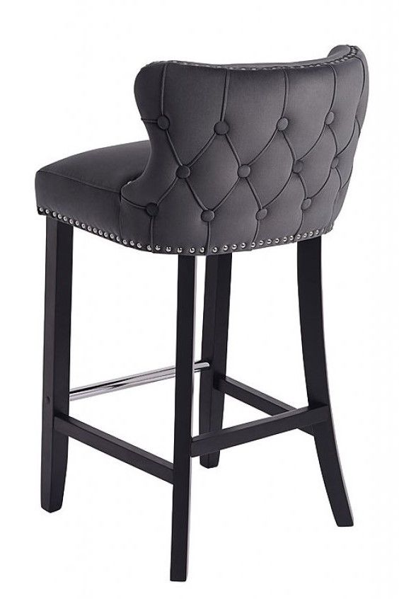 Margonia Bar Stool Storm Grey Grey Bar Stools Elegant Bar
