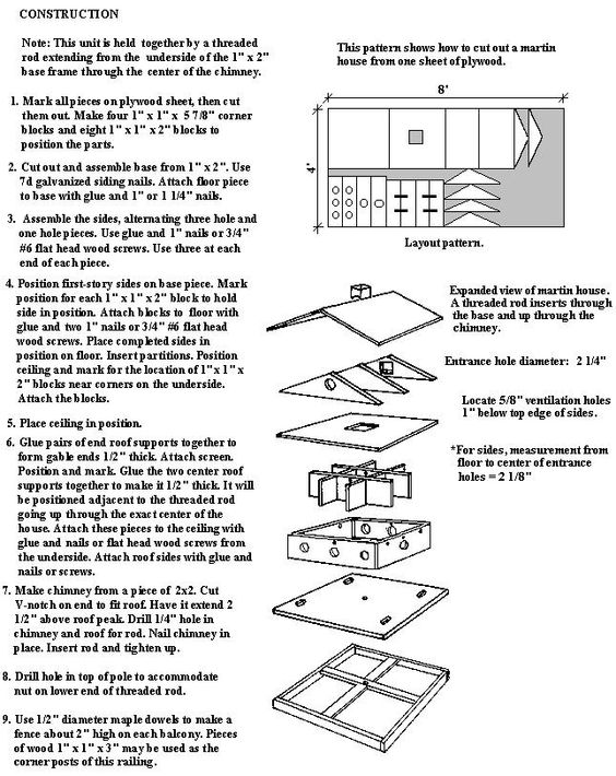 House Plans Nests And Bird Houses On Pinterest