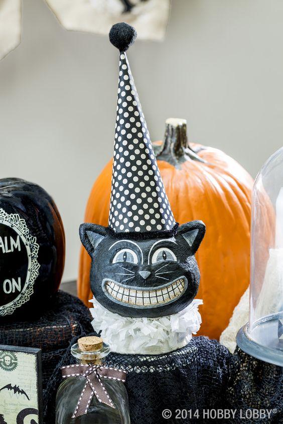 0f7531740e4653888960530b08cd94a3 retro halloween halloween cat