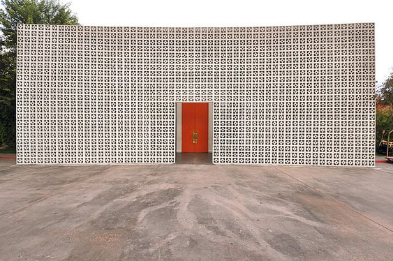 The Parker, Palm Springs, BIG Orange Doors + White = My Favorite, #RealEstate #Style