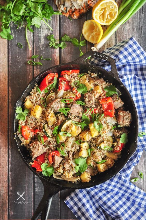Pineapple Tuna Quinoa Skillet: