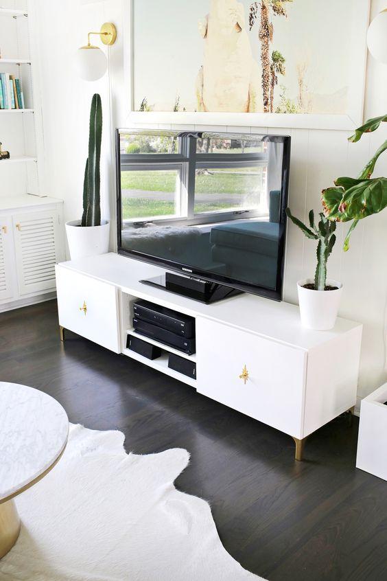Ikea Restyle: Mid Century TV Stand | A Beautiful Mess | Bloglovin'