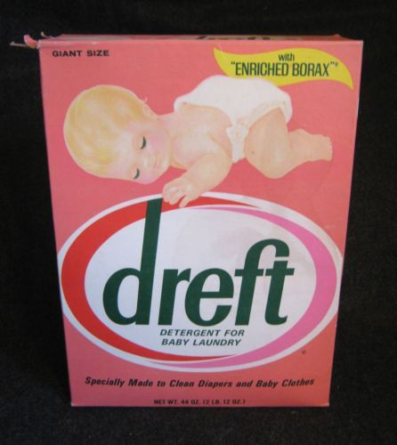 Vintage Dreft Laundry Soap 70's- This is what mom put in my Bath water instead of Mr. Bubble!!!! What a rip!!!!