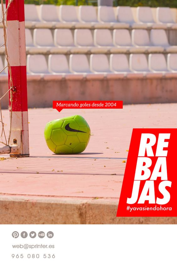 ¡Hasta el 60% en nuestras 2ªas Rebajas! > http://www.sprinter.es/rebajas-ofertas-deportes