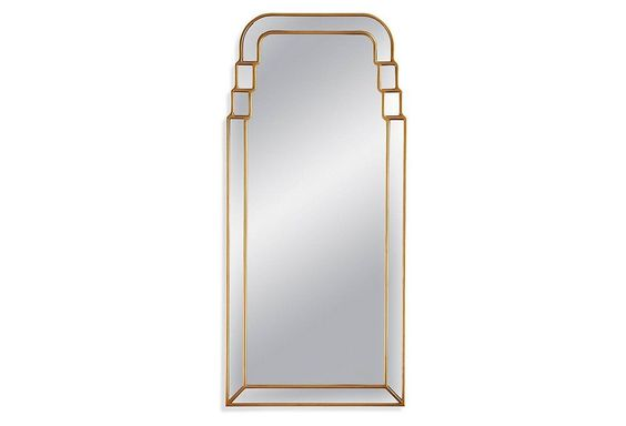 Isidro Wall Mirror, Gold Leaf