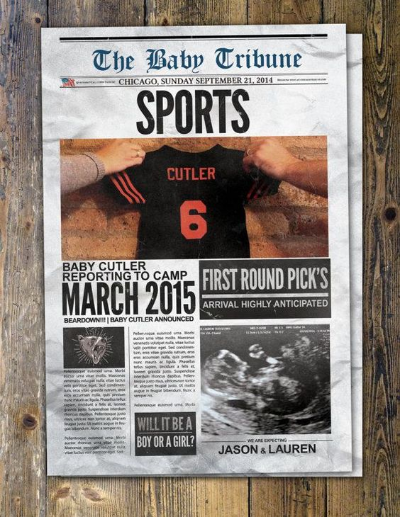 NEWSPAPER pregnancy announcement birth announcement baby boy – Birth Announcement in Newspaper