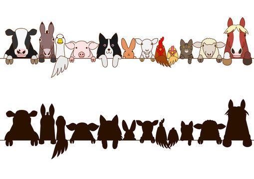 Fotografii Izobrazheniya Bez Uplaty Royalti Vektornye Izobrazheniya I Videoroliki Animal Silhouet V 2021 G Selskohozyajstvennye Zhivotnye Siluet Zhivotnogo Logotip Zhivotnye