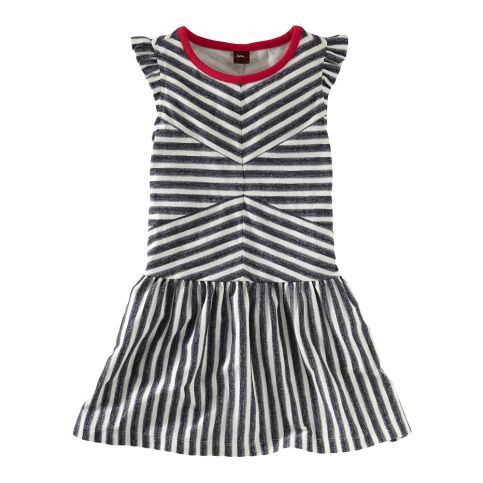 In this season of color, these bold, graphic, black-and-white stripes look almost demure. Almost.