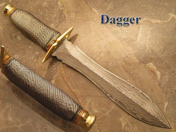 (NM-1346) CUSTOM HAND MADE RARE DAMASCUS STEEL  HUNTING DAGGER  KNIFE