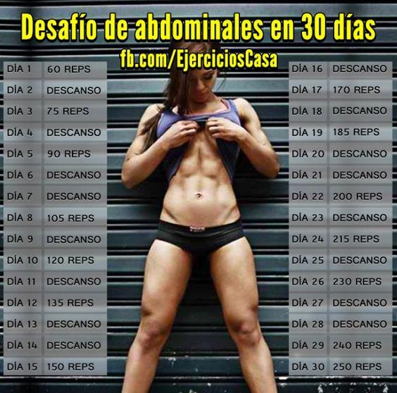Definir abdominales en 30 dias