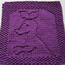 Knitted Baby Washcloths Free Patterns : Free Knitting Pattern - Dishclothes & Washcloths : Baby Joey Cloth For ...