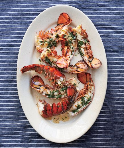 Lobster Tails With Cilantro Butter | RealSimple.com