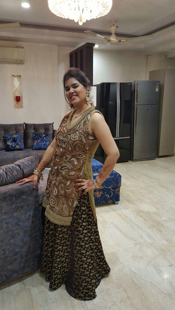 #karvachauth #brocade #skirt #ribbonwork #kurta