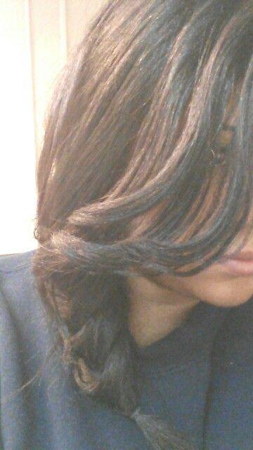 The best I can do til my hair gets longer!
