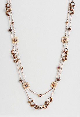 Charlene Long Copper Bead Necklace.Charlene Long Copper Bead Necklace #Christopher&Bankslove