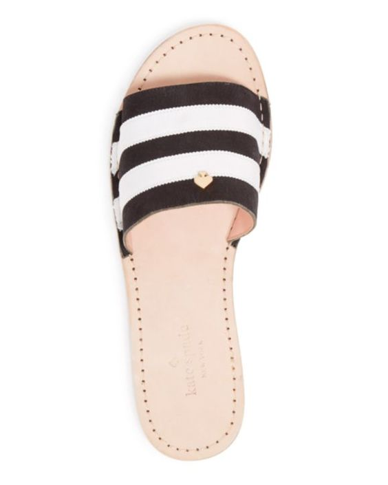 kate spade new york Flat Slide Sandals - Imperiale Striped | Bloomingdales's