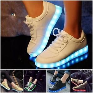 Women Men Glowing Shoes Sportswear Lights Up LED Luminous Dance Shoes Cool | eBay