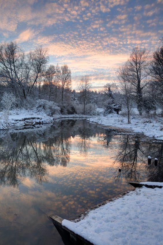 photo: mountain winter scene at sunrise .. All is Still ...