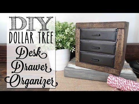 Diy Desk Organizer Drawers Dollar Tree Craft Youtube Dollar Store Diy Organization Desk Organization Diy Diy Desk Decor