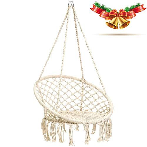 Cctro Hanging Rope Hammock Chair Swing Seat Large Brazilian Hammock Net Chair Porch Chair For Y Hammock Swing Chair Swinging Chair Hanging Hammock Swing Chair