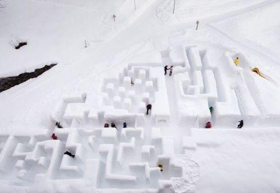 Das schweizweit grösste Schnee-Labyrinth in Braunwald - Eventidee in Braunwald