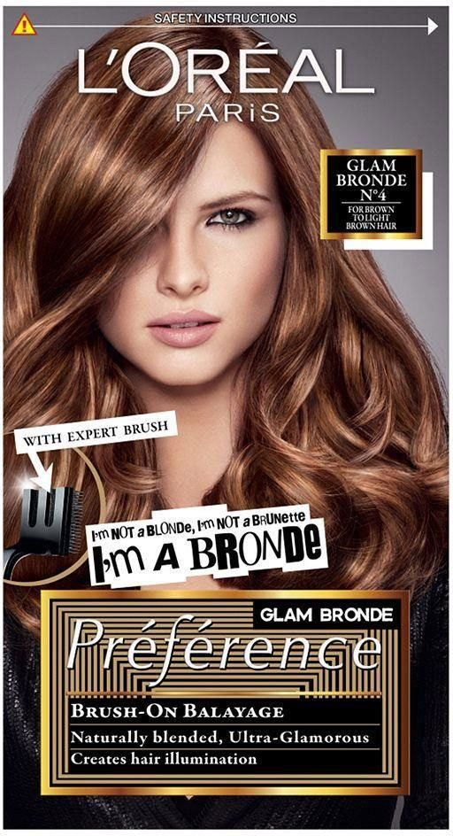 L Oreal Paris Preference Glam Bronde No4 Brown To Light Brown