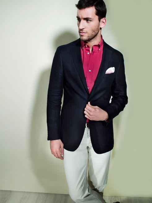 Casaco 144€, Camisa 38€, Calça 39€, Cinto 25€, Lenço 16€